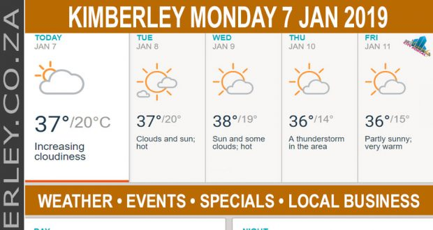 Today in Kimberley South Africa - Weather News Events 2019/01/07