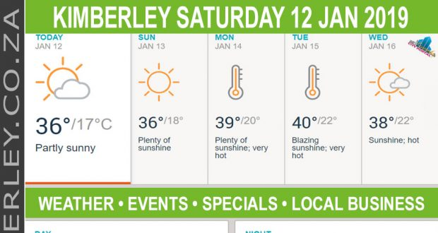 Today in Kimberley South Africa - Weather News Events 2019/01/12