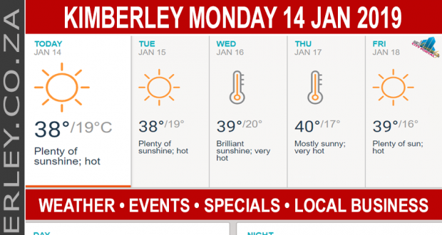 Today in Kimberley South Africa - Weather News Events 2019/01/14