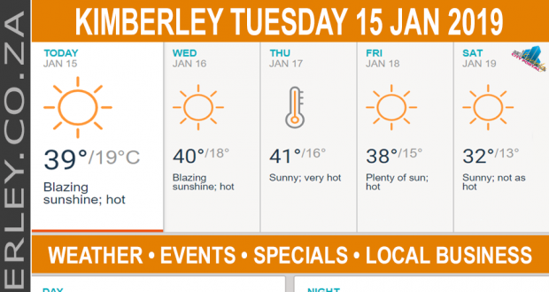 Today in Kimberley South Africa - Weather News Events 2019/01/15