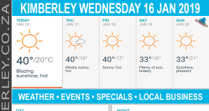 Today in Kimberley South Africa - Weather News Events 2019/01/16