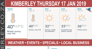 Today in Kimberley South Africa - Weather News Events 2019/01/17