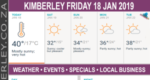 Today in Kimberley South Africa - Weather News Events 2019/01/18