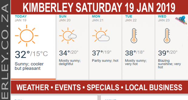 Today in Kimberley South Africa - Weather News Events 2019/01/19