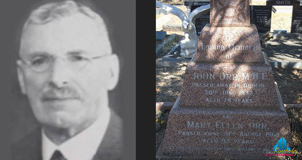 Today In Kimberley's History - 7 January Joh Orr