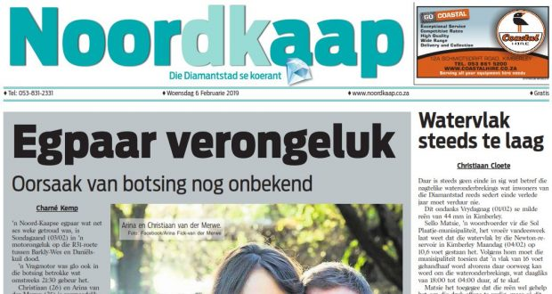 Die Noordkaap Koerant 6 Februarie 2019 Voorblad