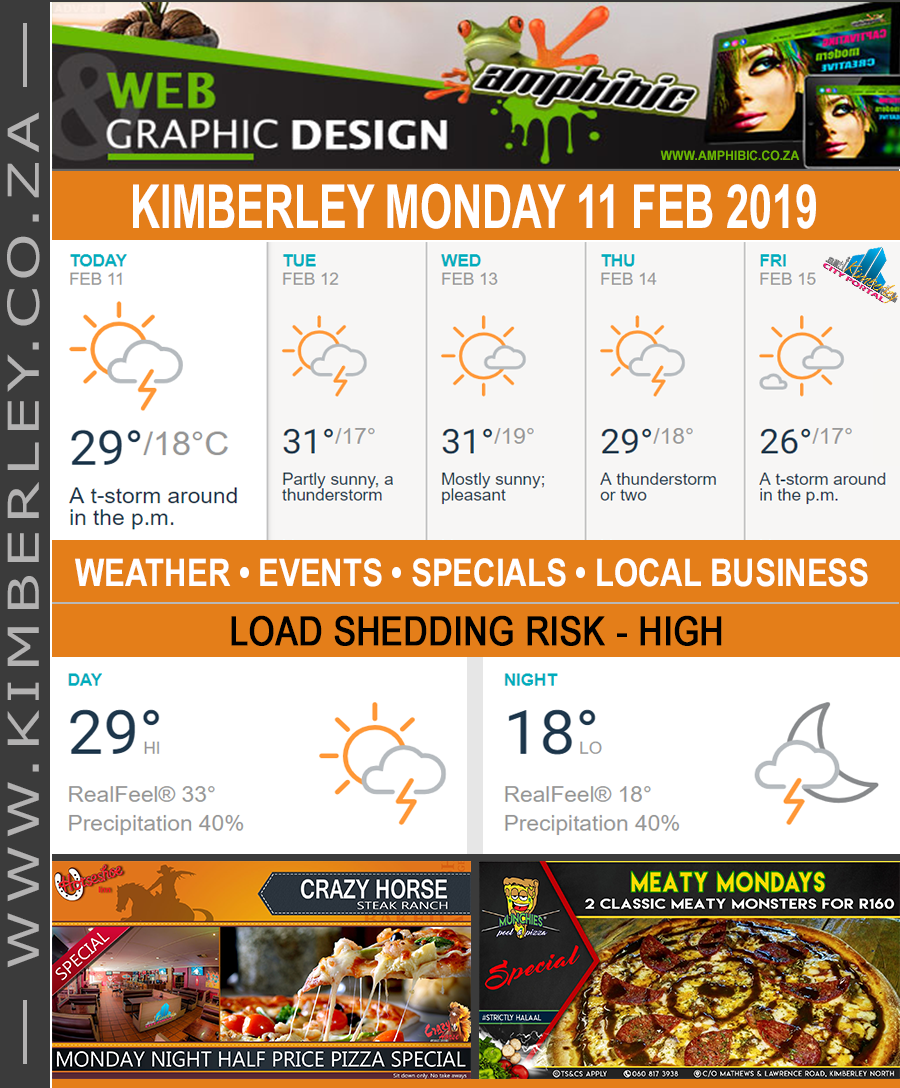 Today in Kimberley South Africa - Weather News Events 2019/02/11