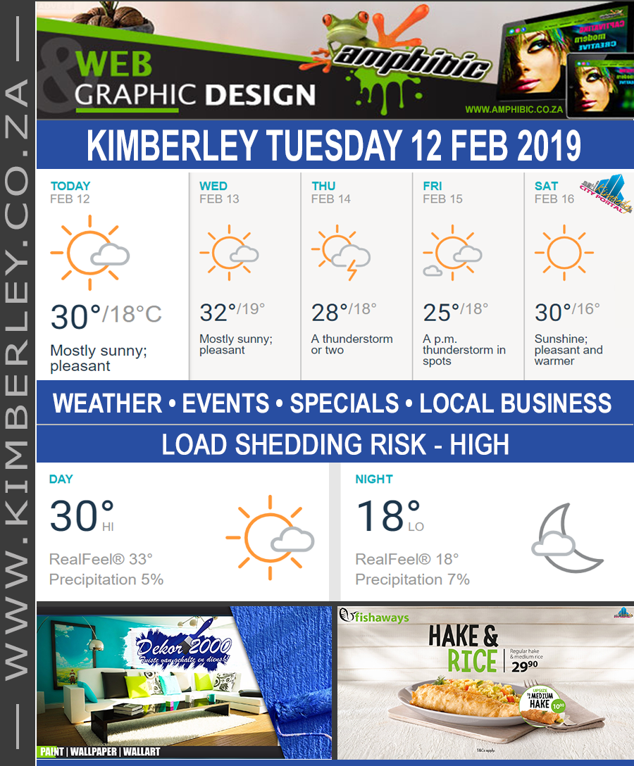 Today in Kimberley South Africa - Weather News Events 2019/02/12