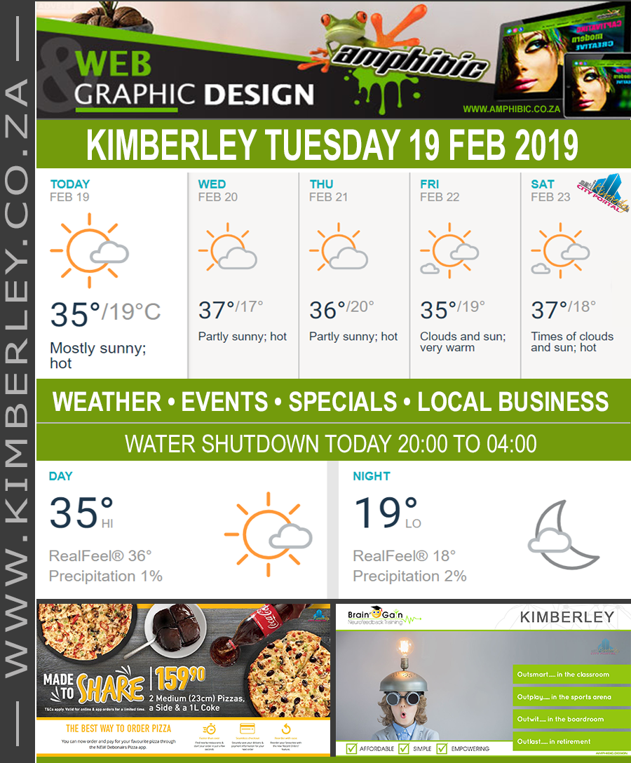 Today in Kimberley South Africa - Weather News Events 2019/02/19
