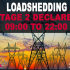 Stage 2 Loadshedding from 09:00 to 22:00