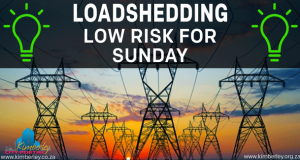Loadshedding - Low risk for Sunday - Kimberley Sol Plaatje