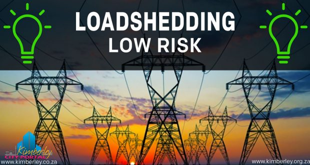 Currently There is a low risk of loadshedding