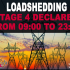 Stage 4 Loadshedding rom 09:00 to 23:00 in Kimberley So Plaatje Municipality