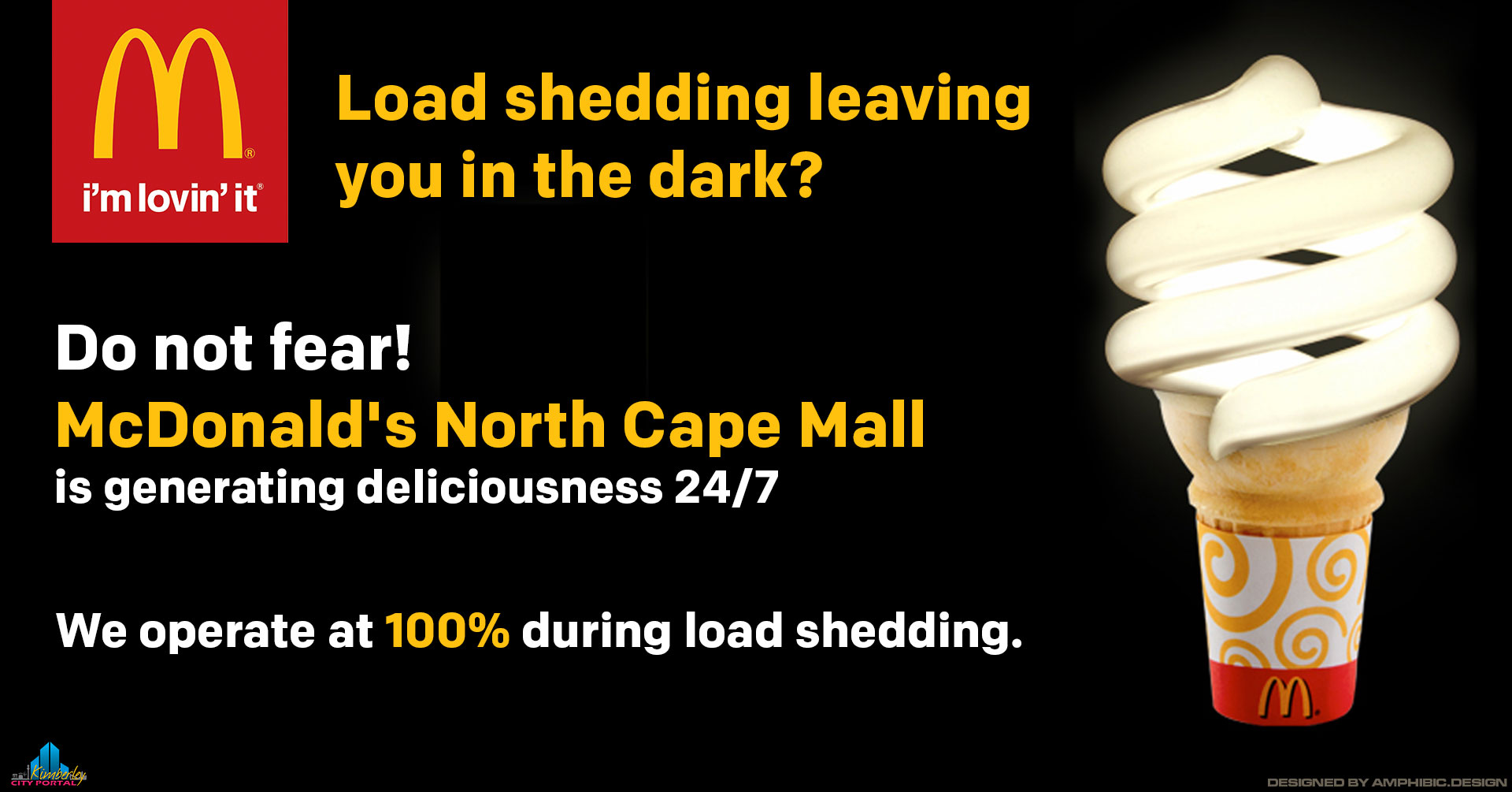 McDonalds at the North Cape Mall in Kimberley operates 100% During Loadshedding