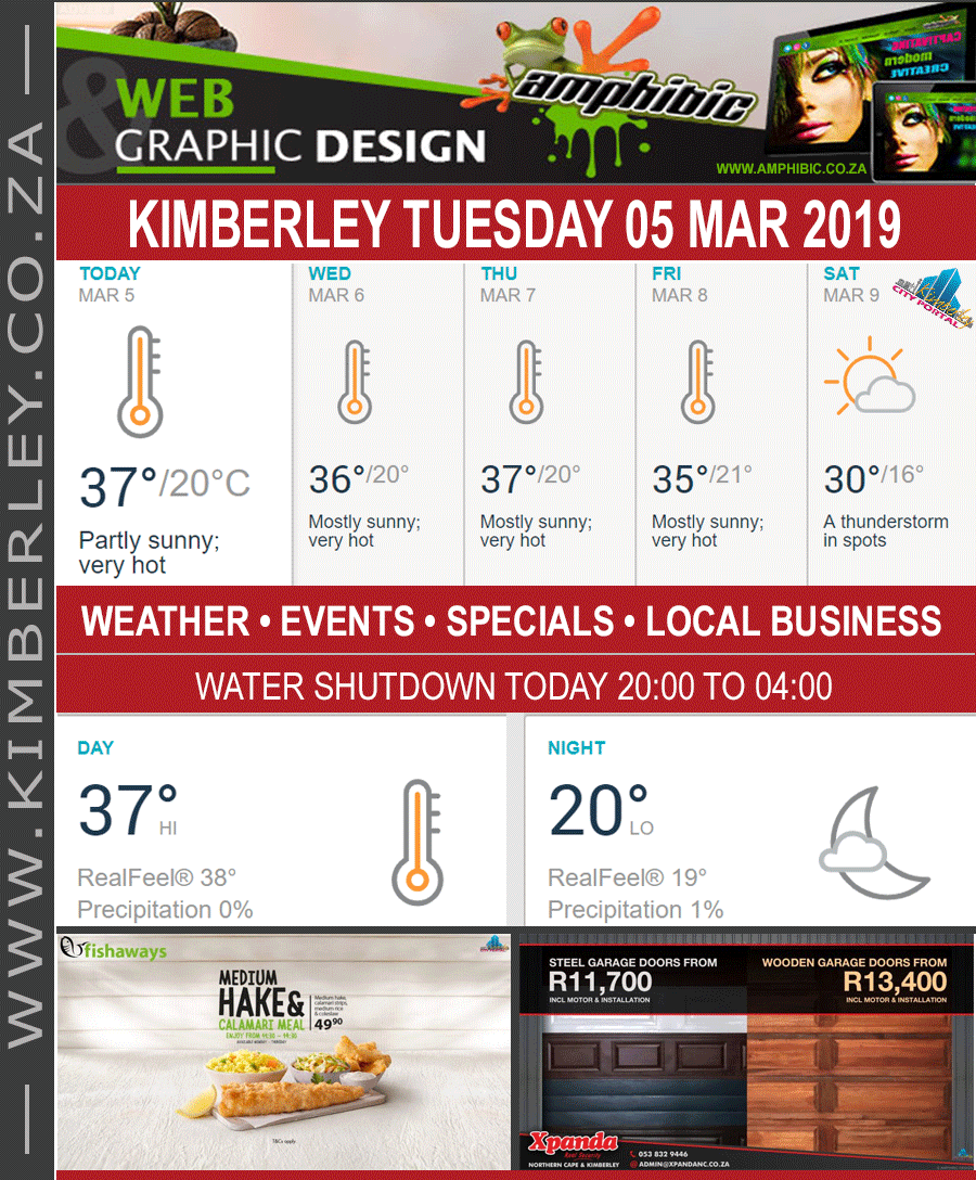 Today in Kimberley South Africa - Weather News Events 2019/03/04