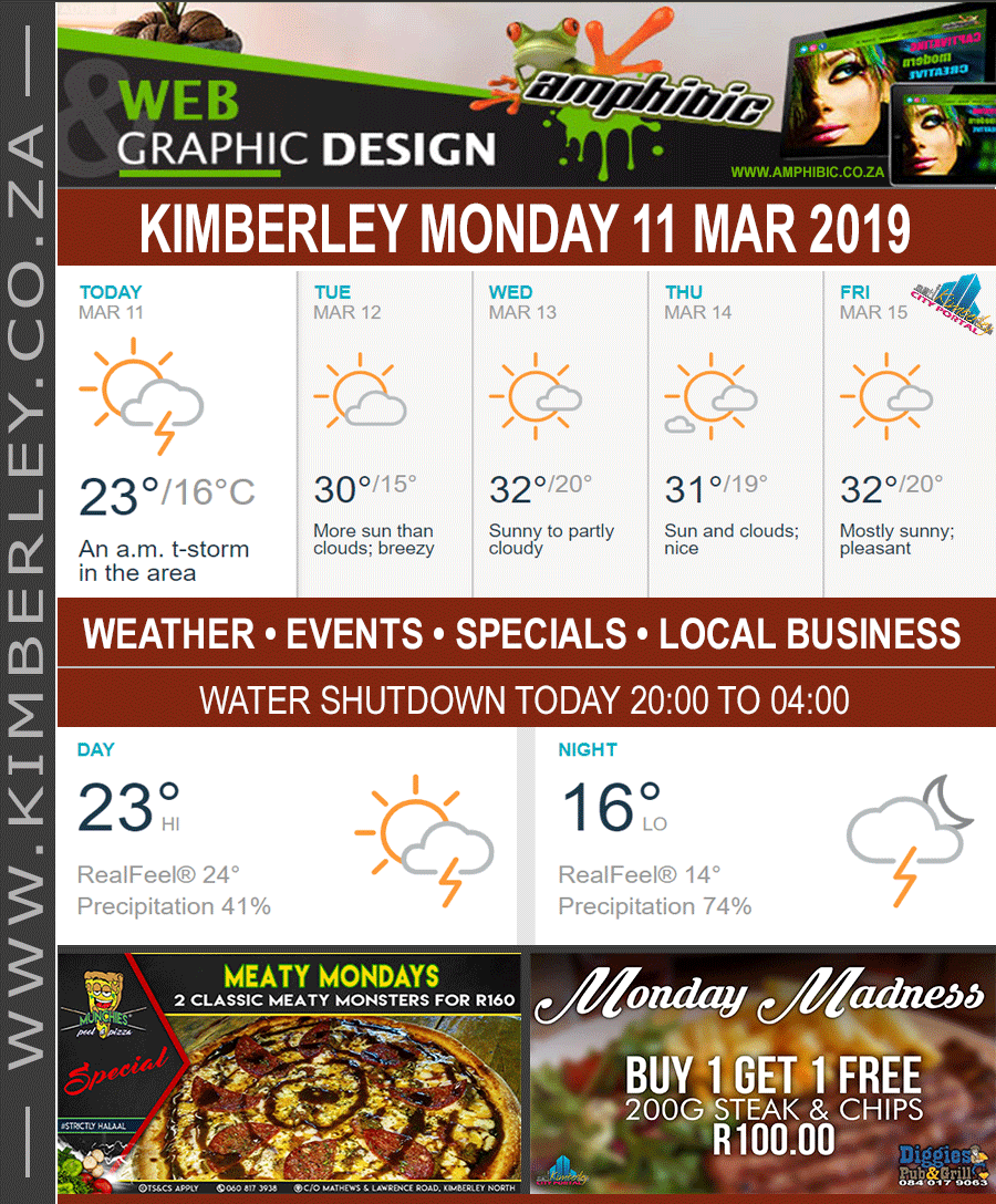 Today in Kimberley South Africa - Weather News Events 2019/03/11