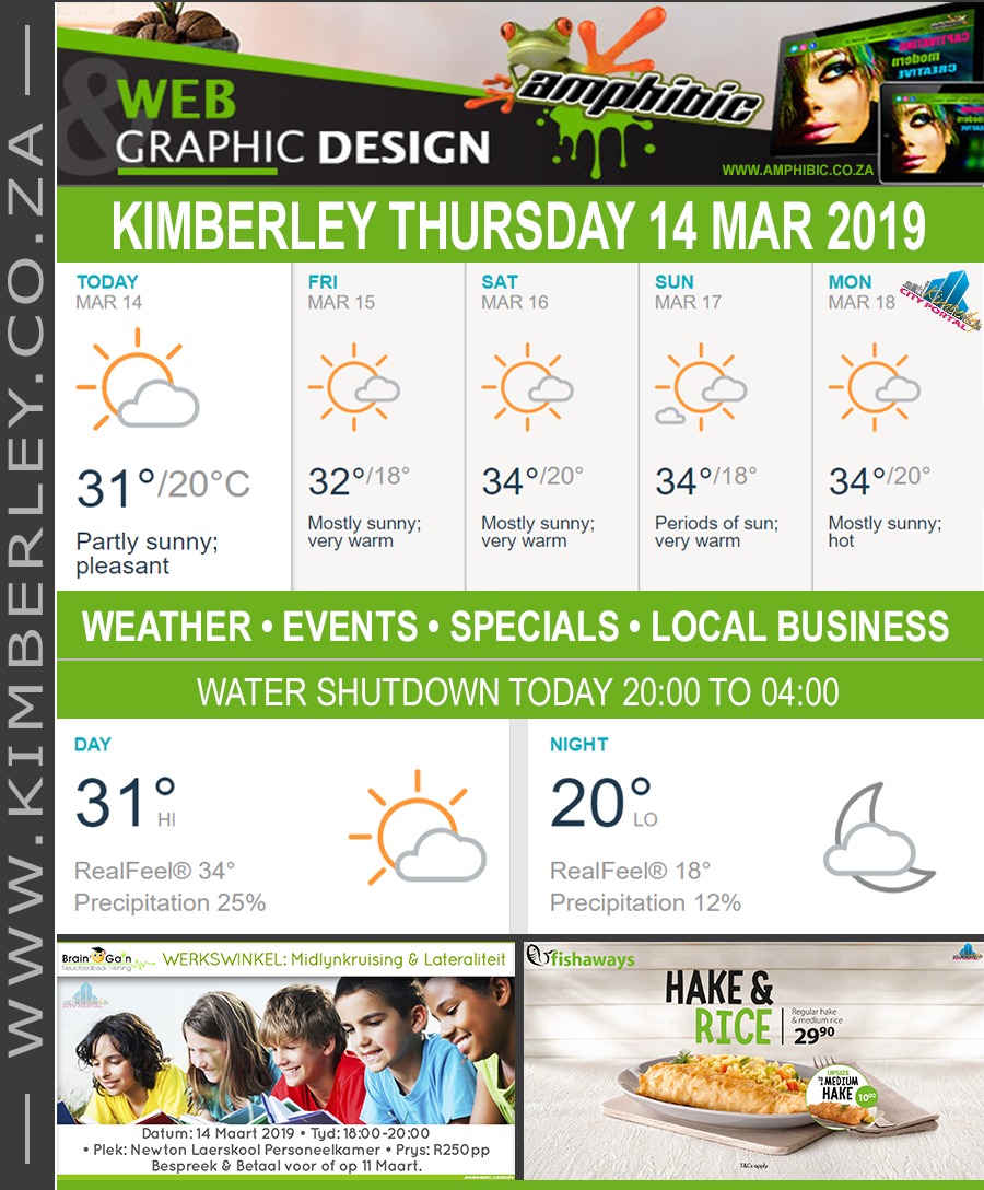 Today in Kimberley South Africa - Weather News Events 2019/03/14