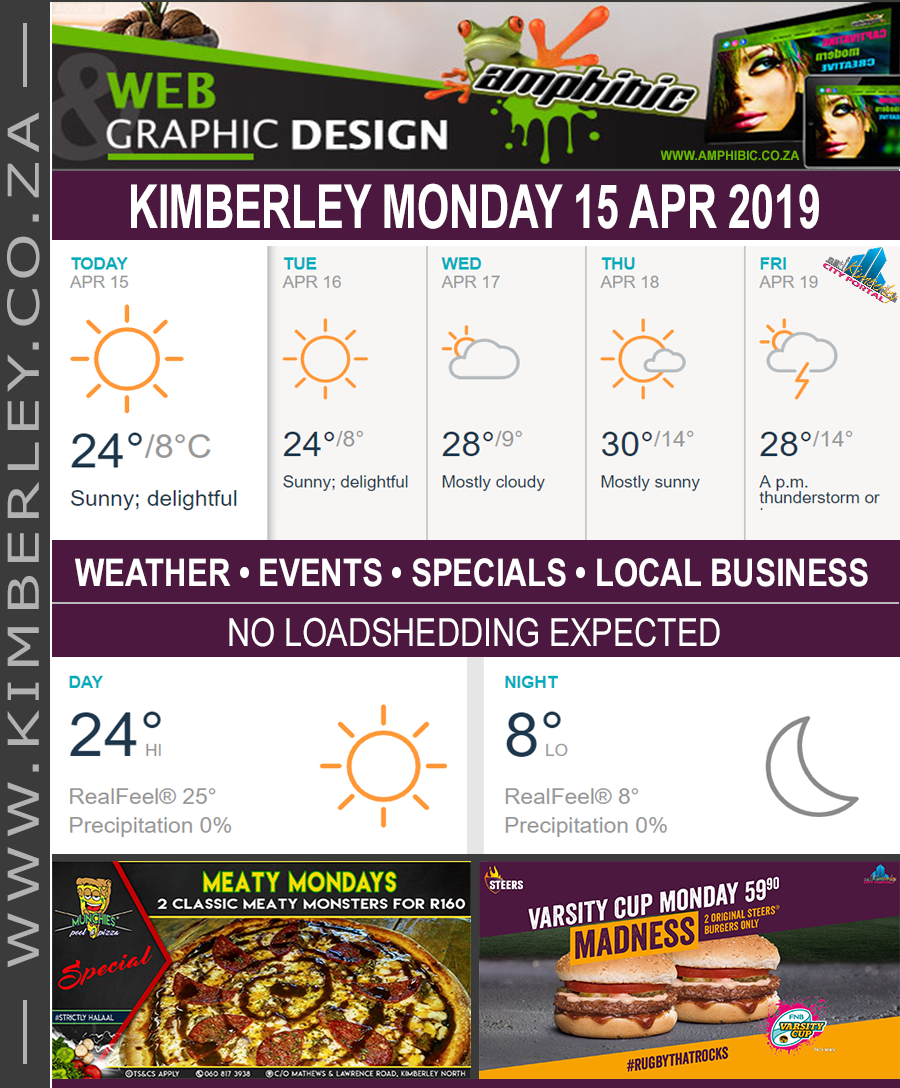 Today in Kimberley South Africa - Weather News Events 2019/04/15