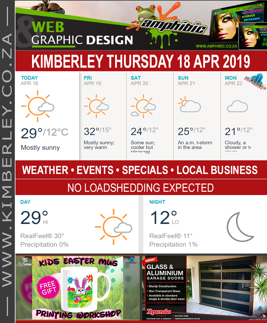 Today in Kimberley South Africa - Weather News Events 2019/04/18