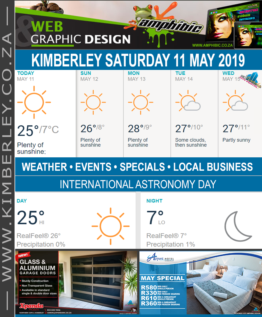 Today in Kimberley South Africa - Weather News Events 2019/05/11
