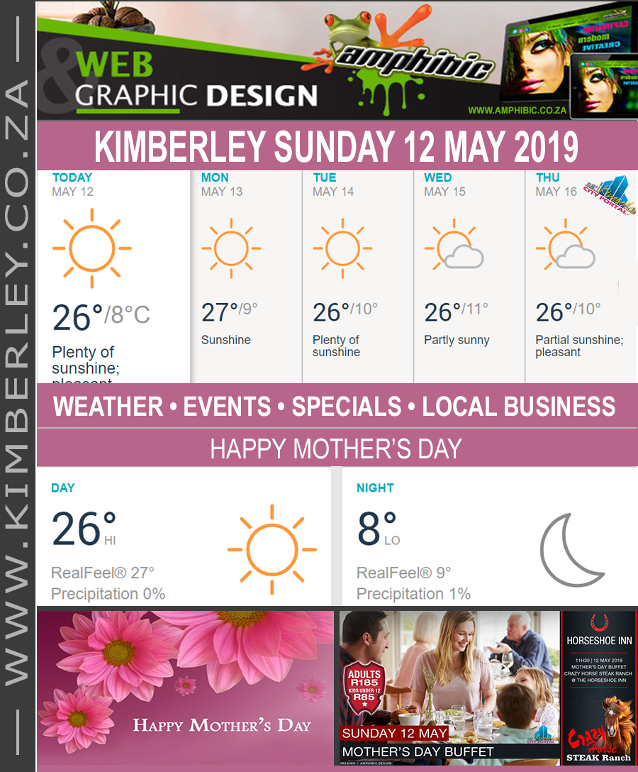 Today in Kimberley South Africa - Weather News Events 2019/05/12