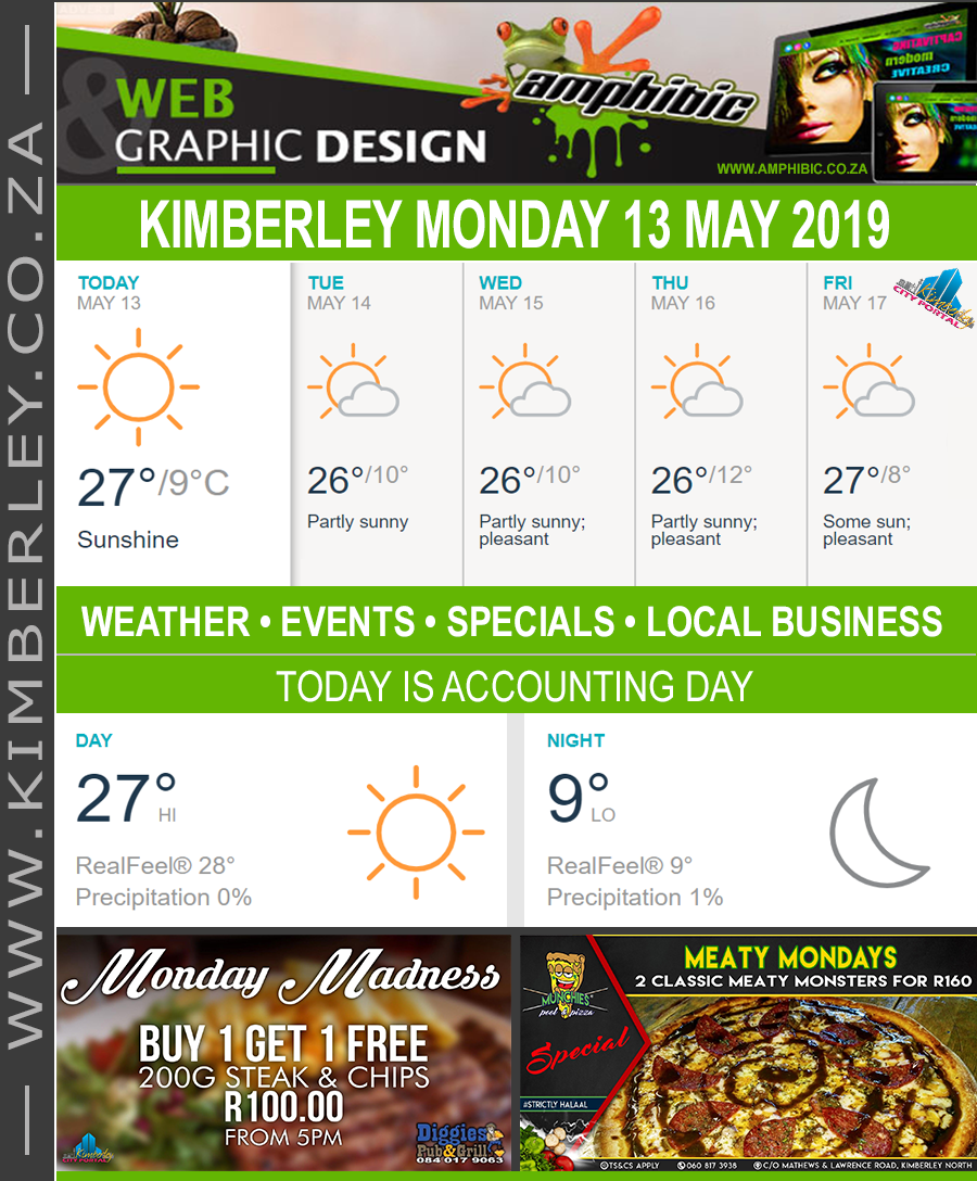 Today in Kimberley South Africa - Weather News Events 2019/05/13