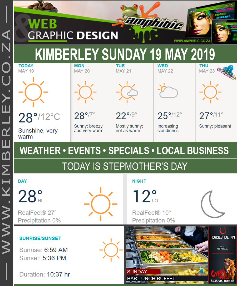 Today in Kimberley South Africa - Weather News Events 2019/05/19