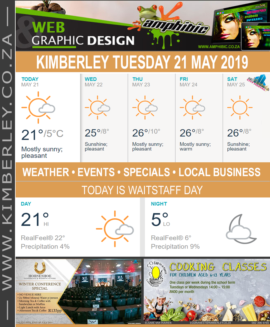 Today in Kimberley South Africa - Weather News Events 2019/05/21
