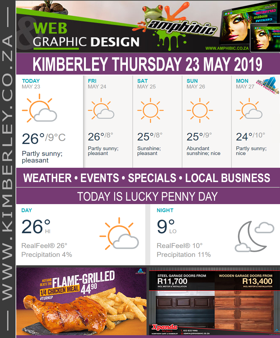 Today in Kimberley South Africa - Weather News Events 2019/05/23