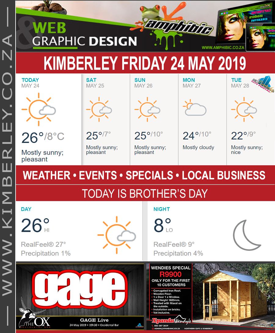 Today in Kimberley South Africa - Weather News Events 2019/05/24
