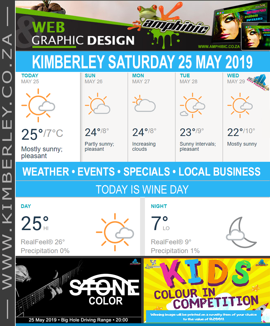 Today in Kimberley South Africa - Weather News Events 2019/05/25
