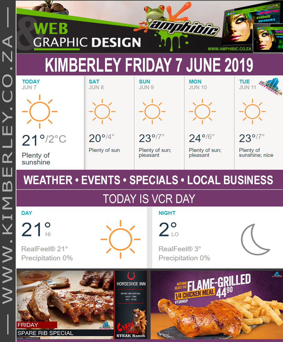 Today in Kimberley South Africa - Weather News Events 2019/06/07