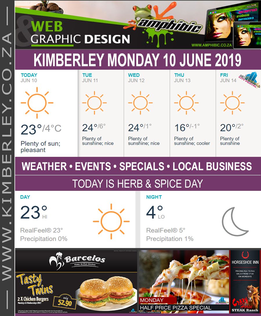 Today in Kimberley South Africa - Weather News Events 2019/06/10
