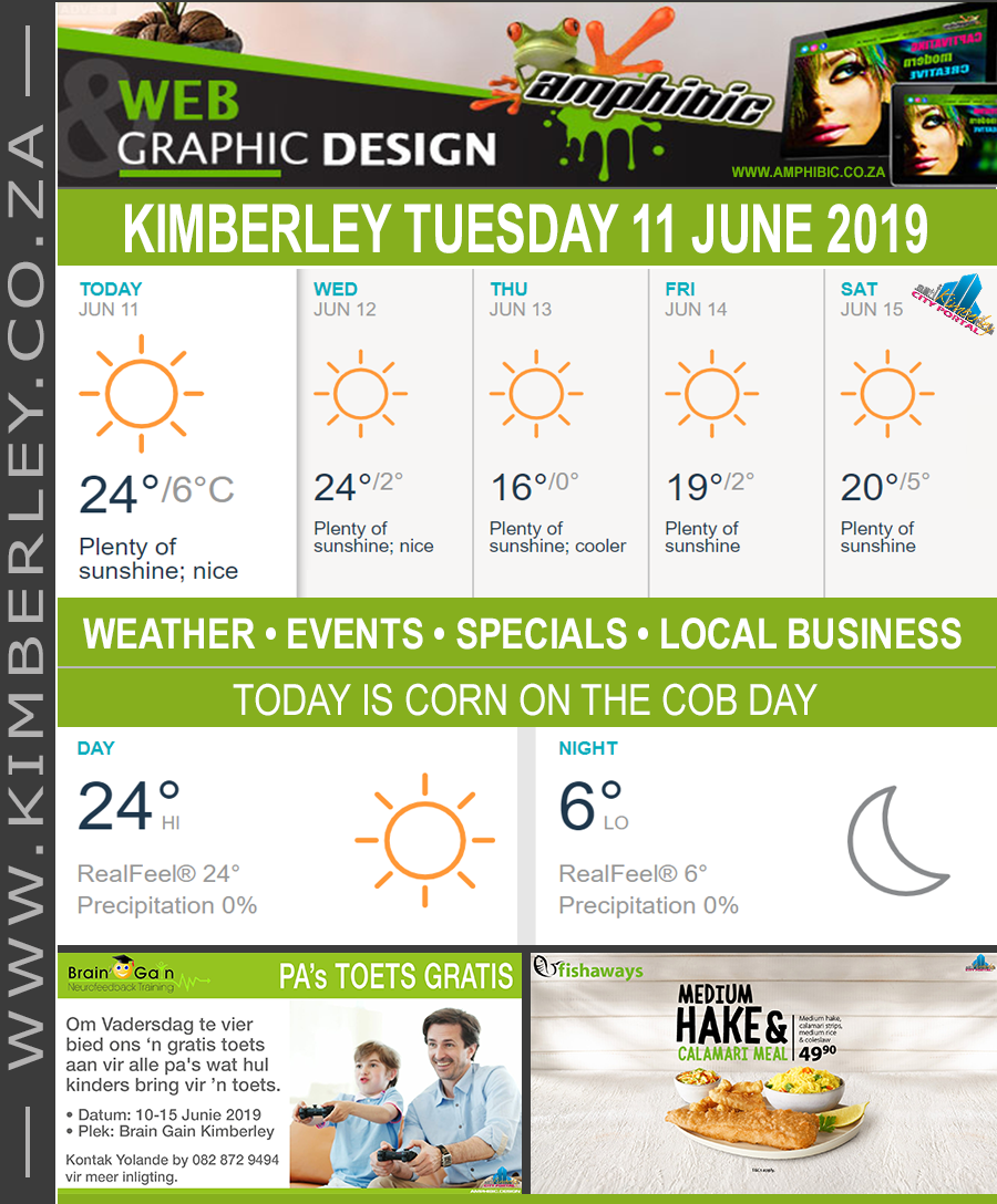 Today in Kimberley South Africa - Weather News Events 2019/06/11