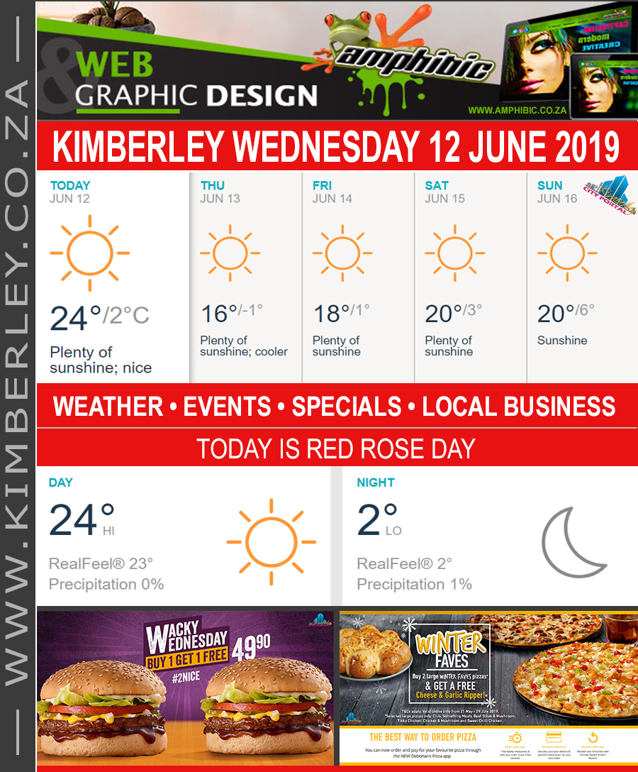 Today in Kimberley South Africa - Weather News Events 2019/06/12