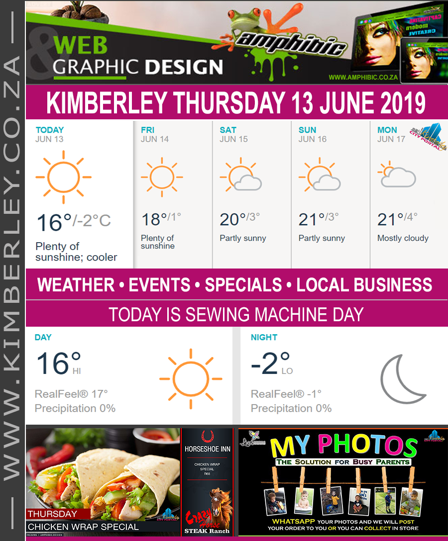 Today in Kimberley South Africa - Weather News Events 2019/06/13