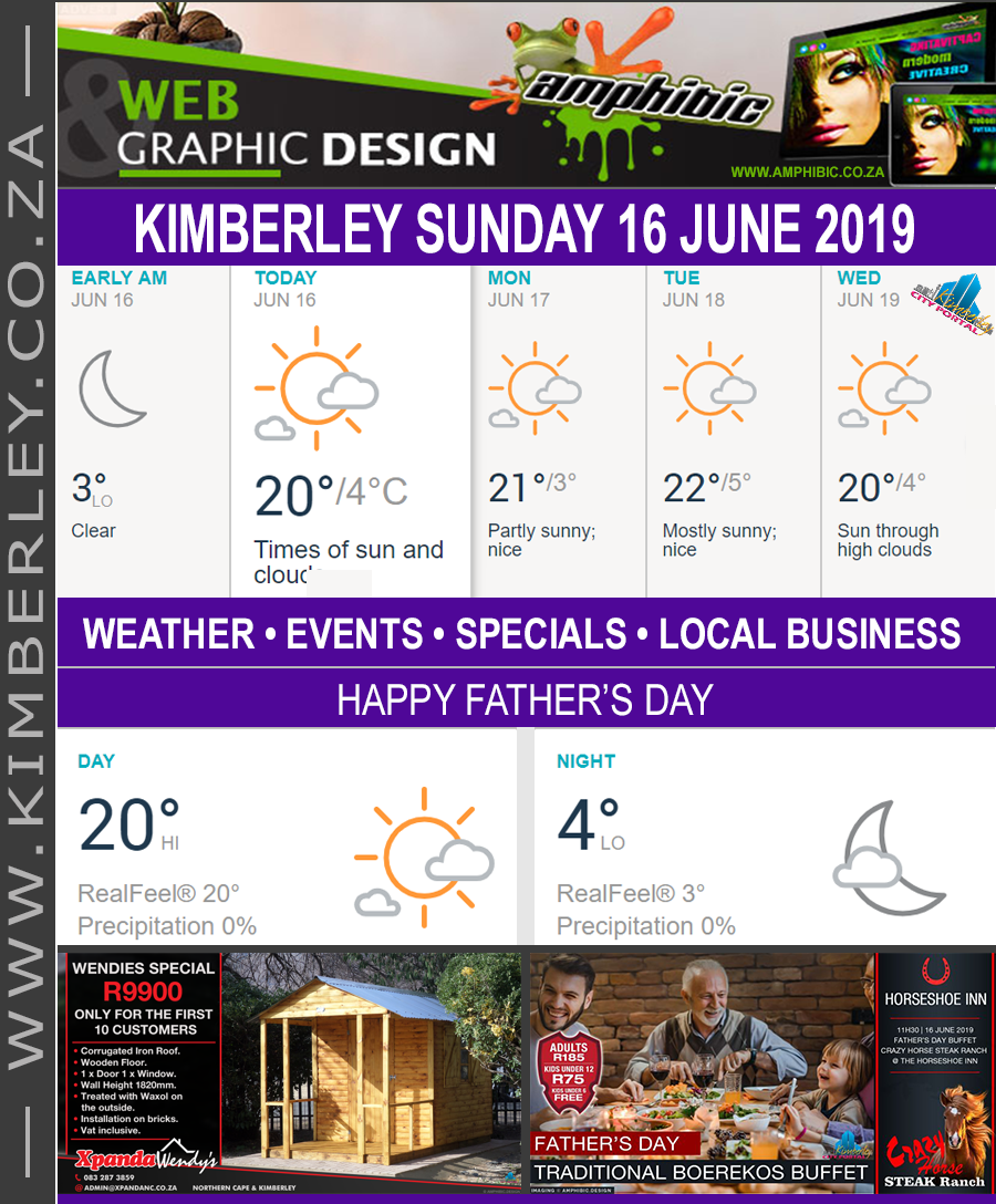 Today in Kimberley South Africa - Weather News Events 2019/06/16