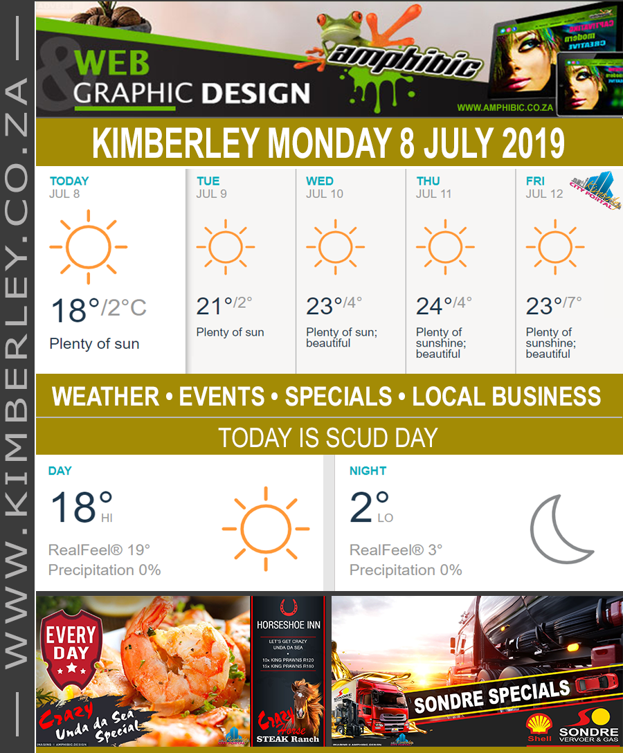 Today in Kimberley South Africa - Weather News Events 2019/07/08