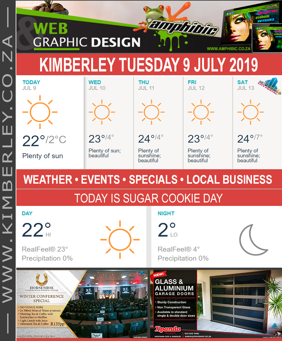 Today in Kimberley South Africa - Weather News Events 2019/07/09