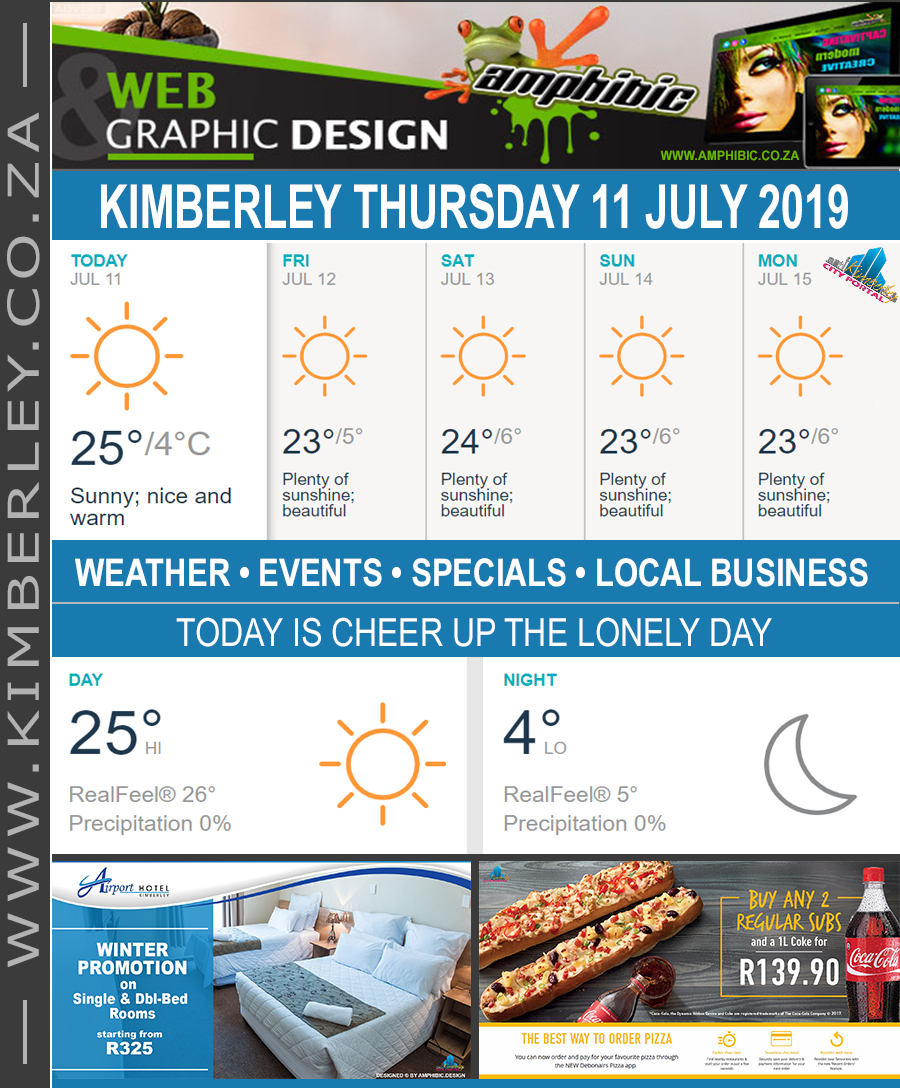 Today in Kimberley South Africa - Weather News Events 2019/07/11