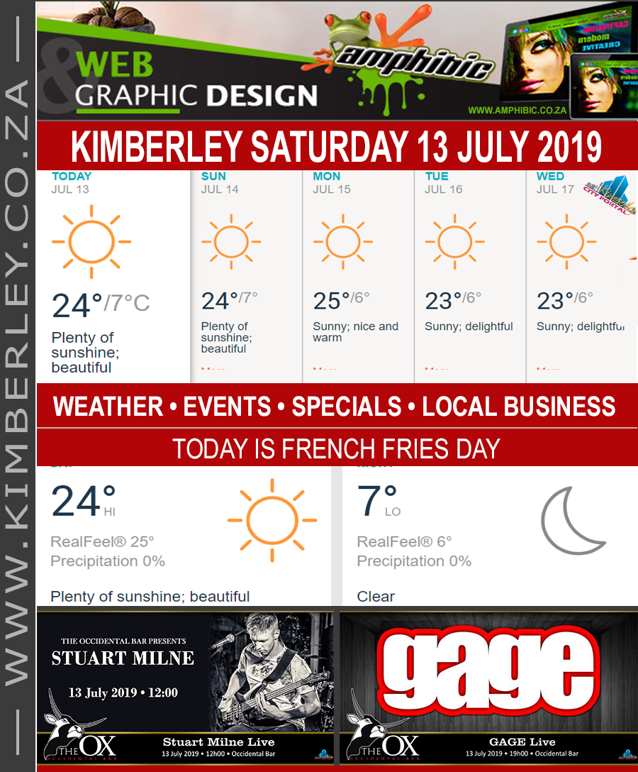 Today in Kimberley South Africa - Weather News Events 2019/07/13