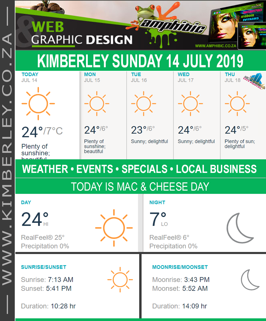 Today in Kimberley South Africa - Weather News Events 2019/07/14