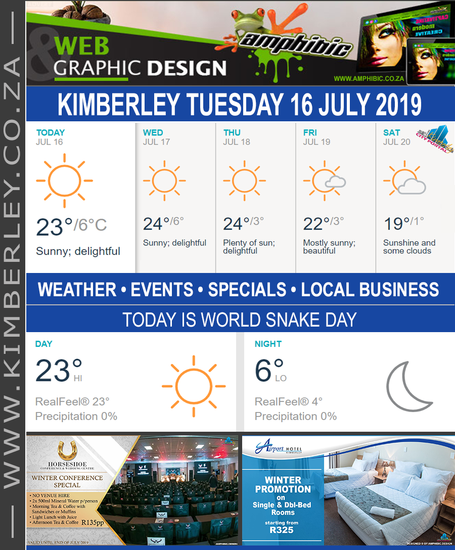 Today in Kimberley South Africa - Weather News Events 2019/07/16