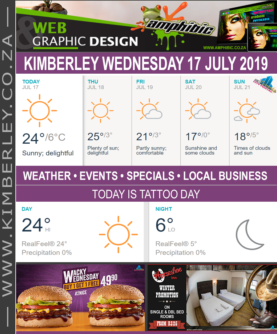 Today in Kimberley South Africa - Weather News Events 2019/07/17