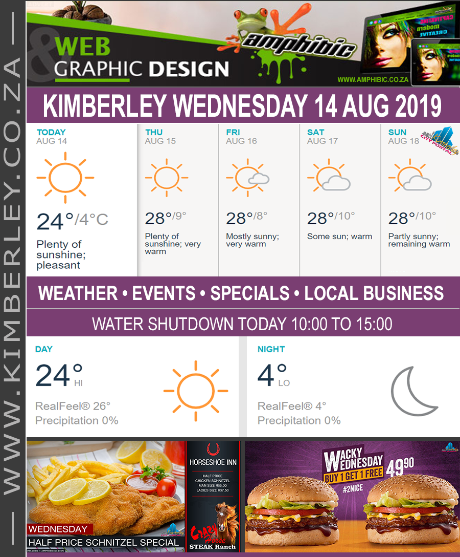 Today in Kimberley South Africa - Weather News Events 2019/08/14