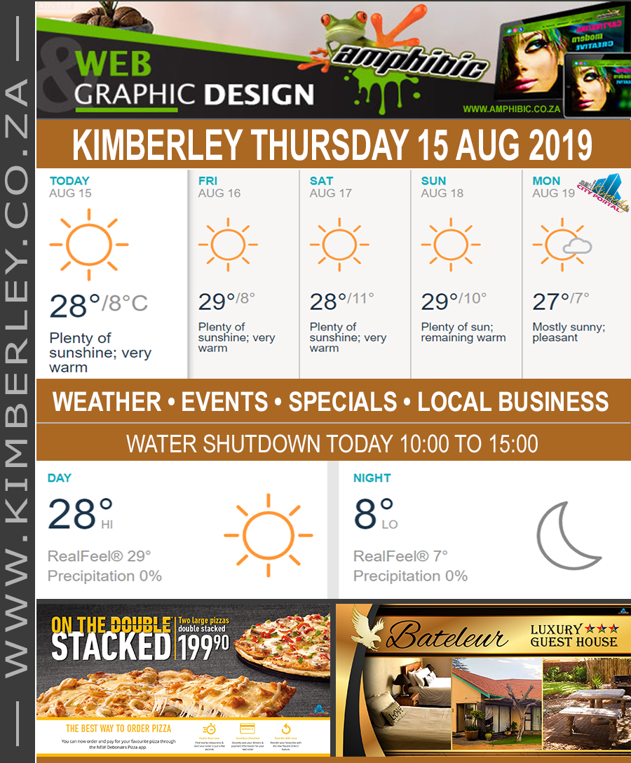 Today in Kimberley South Africa - Weather News Events 2019/08/15
