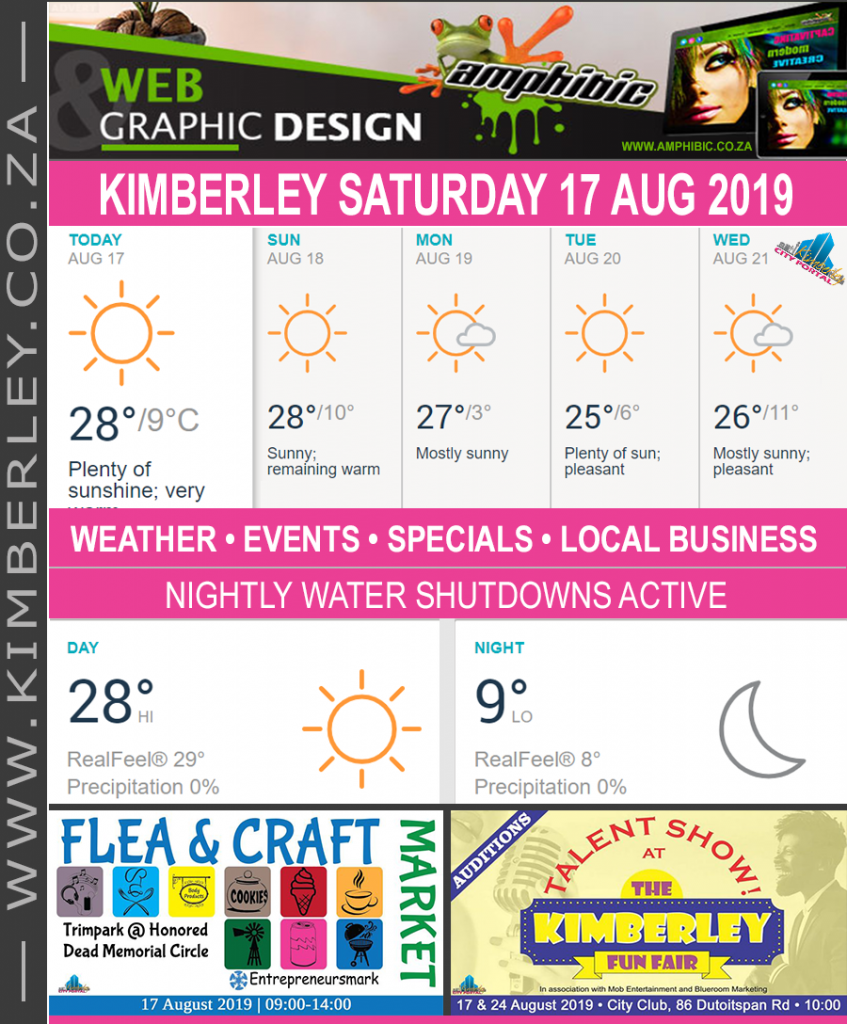 Today in Kimberley South Africa - Weather News Events 2019/08/17