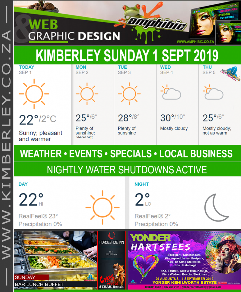 Today in Kimberley South Africa - Weather News Events 2019/09/01