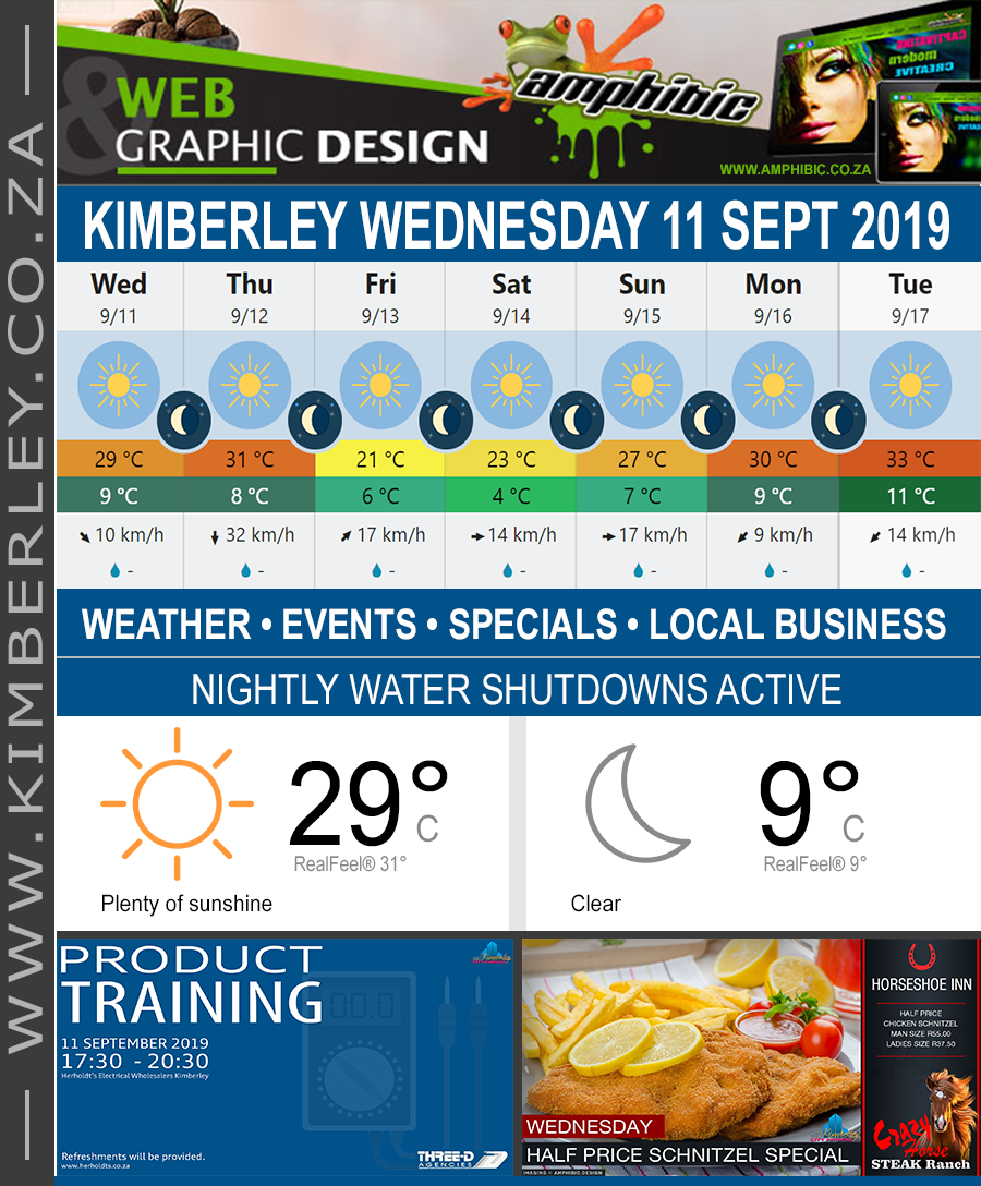 Today in Kimberley South Africa - Weather News Events 2019/09/11