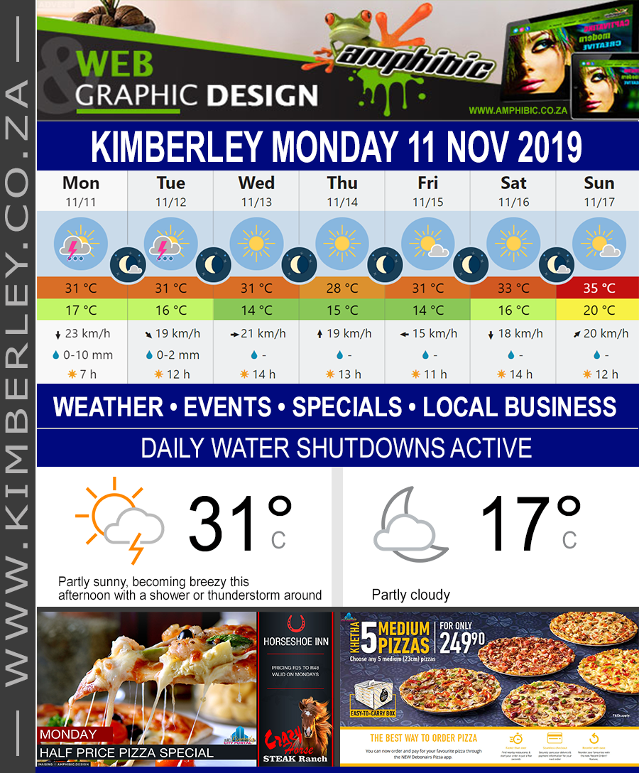 Today in Kimberley South Africa - Weather News Events 2019/11/11